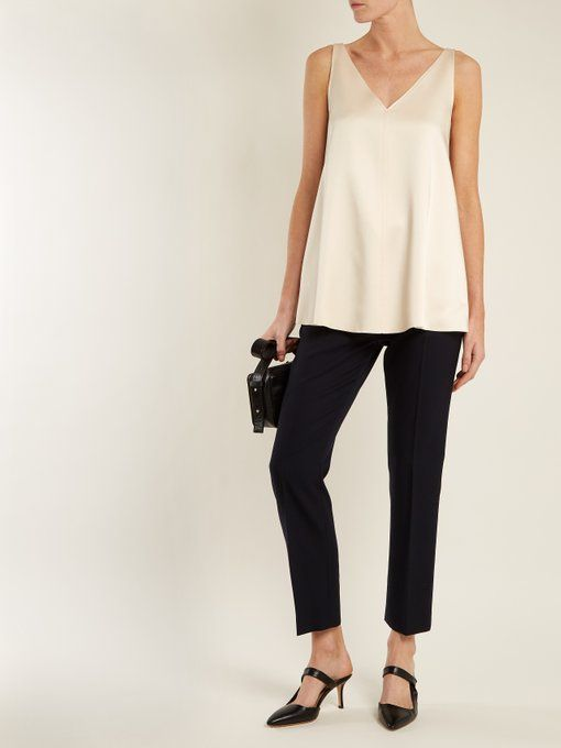 Joseph Davis V-neck satin top
