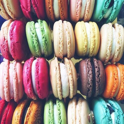 food, ‎macarons, and colors image