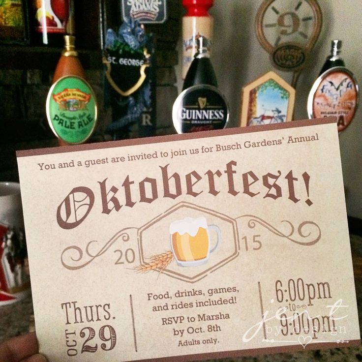 How fun would it be to have an Oktoberfest Party?!! Love these simple invites.