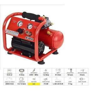 Compresseur d'air à pistons Alsafix - AL57151 - Alsafix - Compresseur 8 bars sans huile… Voir la présentation