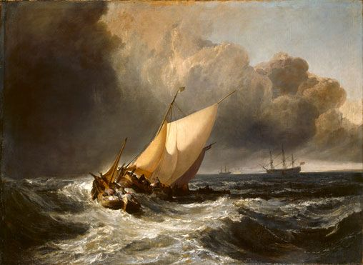 Joseph Mallord William Turner | Dutch Boats in a Gale ('The Bridgewater Sea Piece') | The National Gallery, London