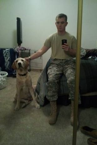 PLEASE REPIN!!!!! He needs our help to get him back! Brandon Harker came home last week from an 8-month deployment to Afghanistan to discover his 2-year-old labrador Oakley was sold while he was deployed.  | Soldier Returns Home From Afghanistan To Discover His Dog Had Been Sold On Craiglist