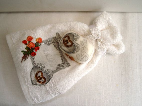 SALE small towel and a soap.Present  for by InspirationOfNature