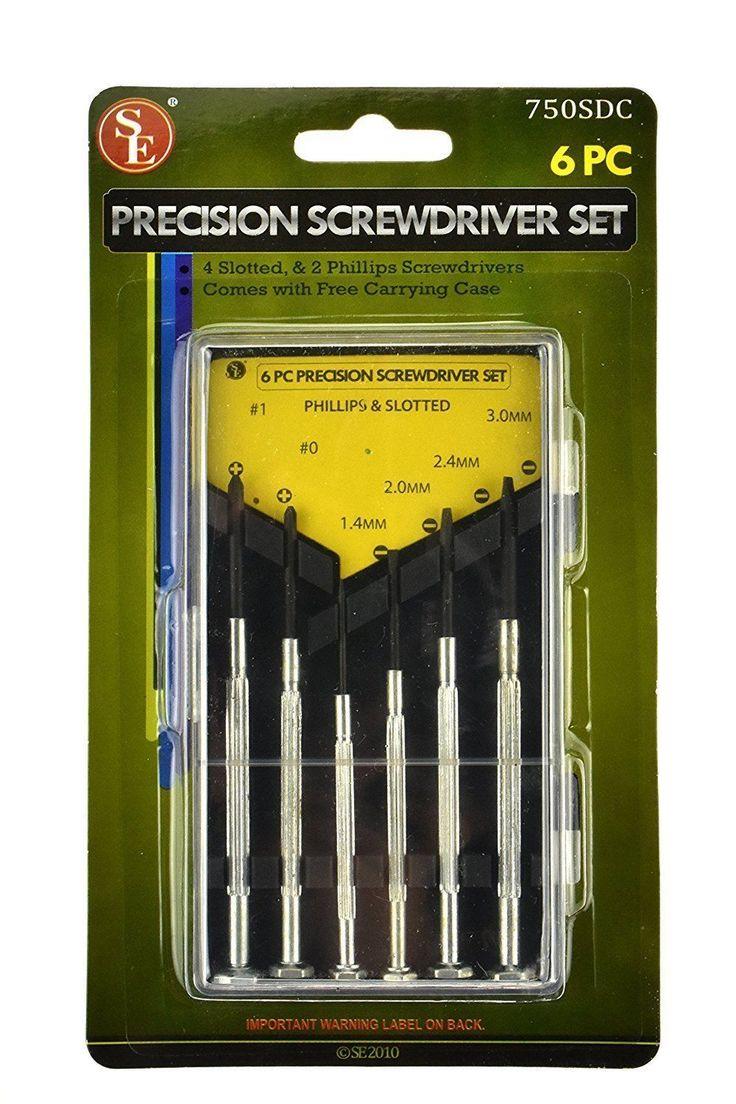 Se 750Sd-Box 6-Piece Precision Screwdriver Set, Storage Case