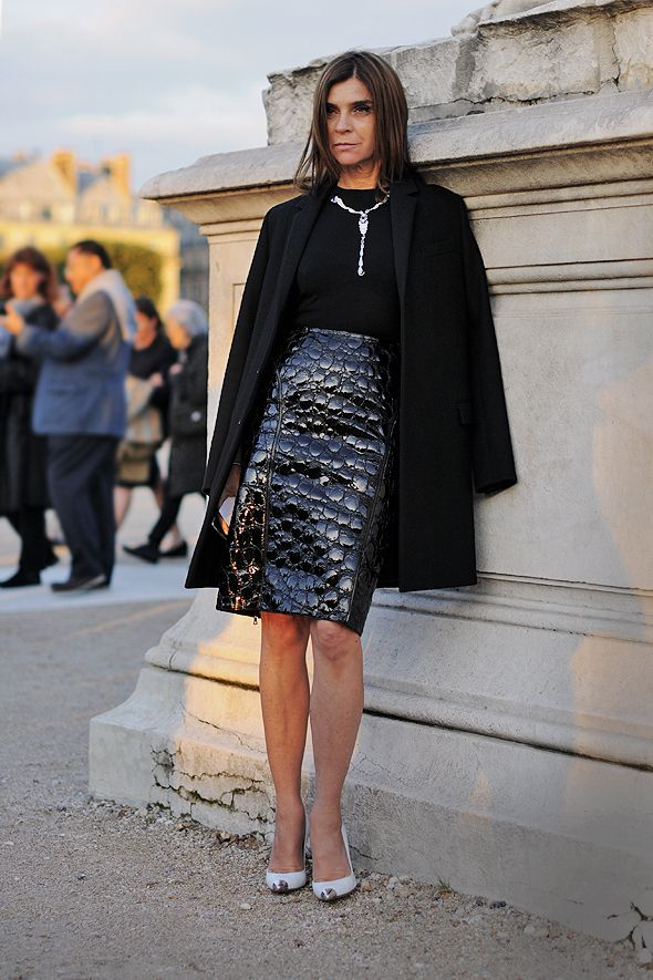 Carine Roitfeld. An inspiration no matter her age! Read more: http://www.aboutawomanaboutagirl.com/7-icons-of-style-at-any-age/