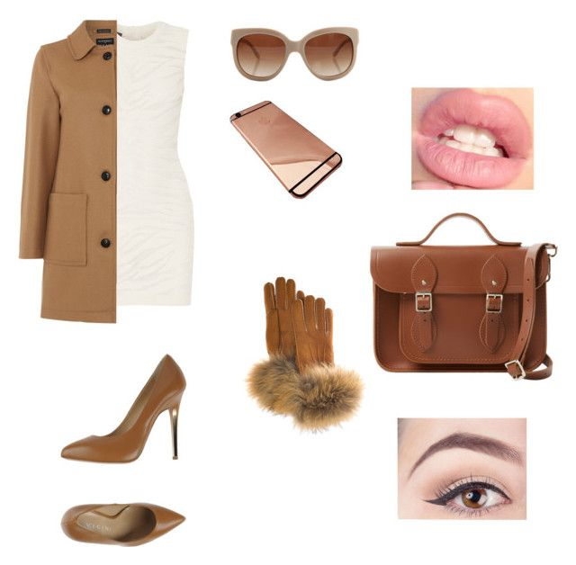 """""""Brown motion"""" by aliza-ahmed on Polyvore featuring Balmain, Gloverall, Vicini, STELLA McCARTNEY, FRR and The Cambridge Satchel Company"""