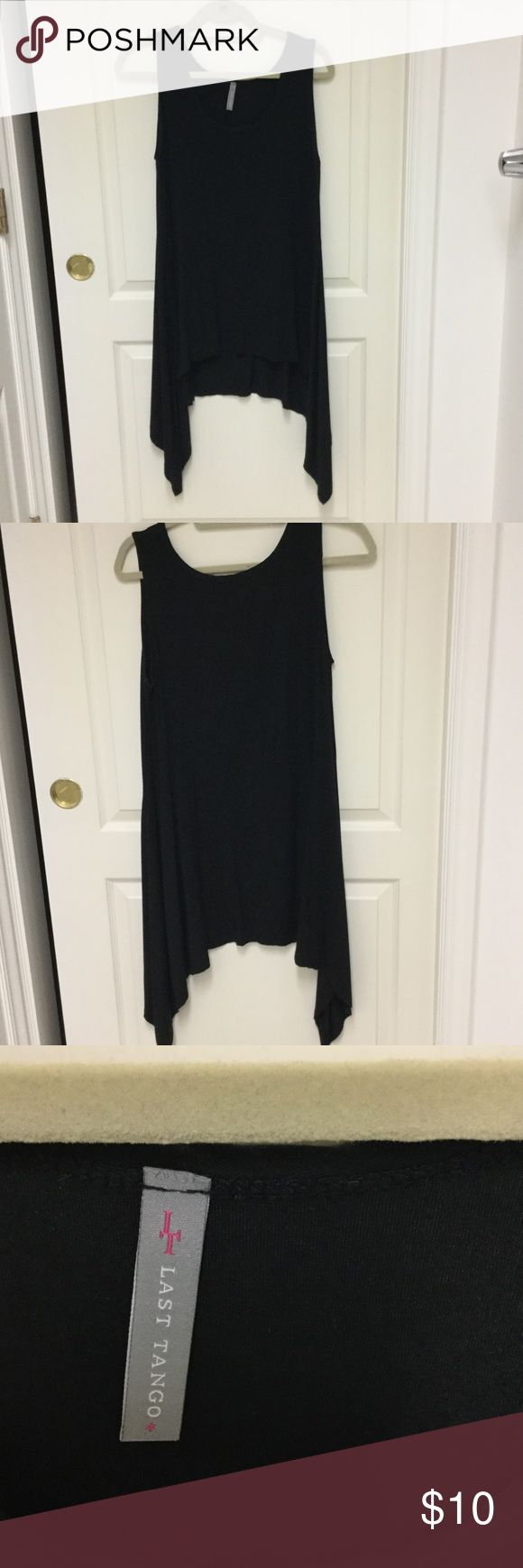 Flowey long Tank top XL black Last Tango flowing tank top. Extremely soft. Has two very small pulls on the bottom of the shirt Last Tango Tops Tank Tops