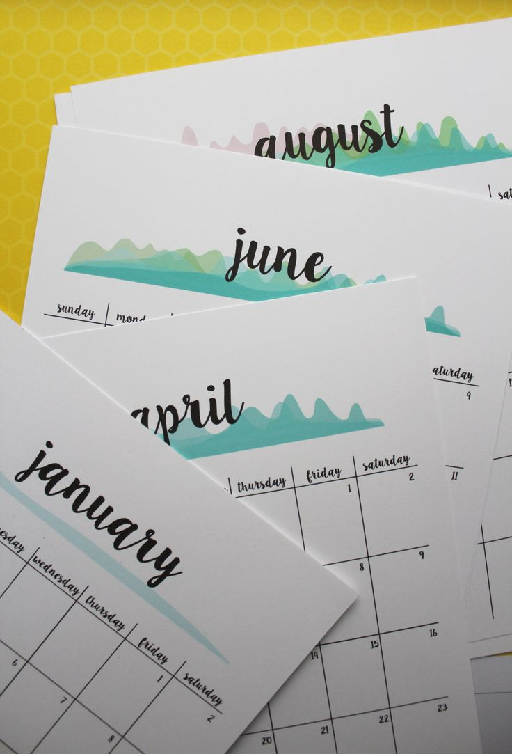 FREE printable 2017 calendar planner | new version