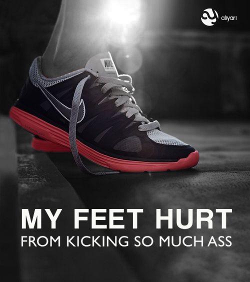 fitness motivation workout gym run running nike feet kick ass #quote aliyari