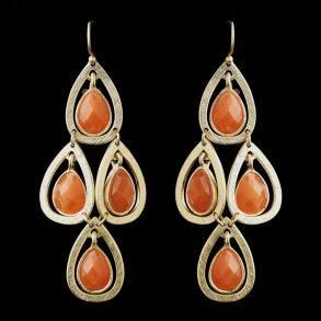 New Bridesmaid Gold Orange  - Earrings - $32.99: Bridesmaid Jewelry, Bridesmaid Gold