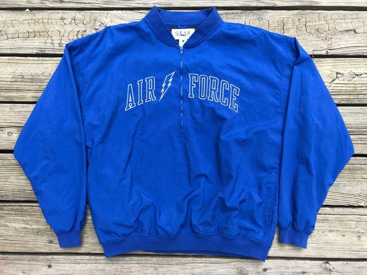AIR FORCE ACADEMY Falcons Gear For Sports Nylon 1/2 Zip Pullover Jacket Men's L  | eBay