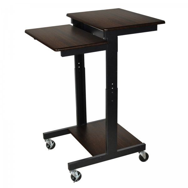 "Laptop / Projector Stand (Black / Walnut) (39""-45""H x 24""W x 31""D)"