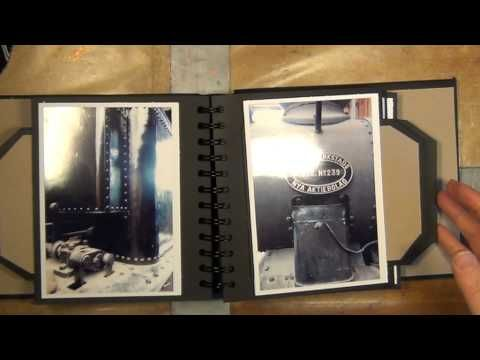 ▶ A MINI ALBUM WITH A HIDDEN COIL BINDING AND SLIDER TAGS - YouTube