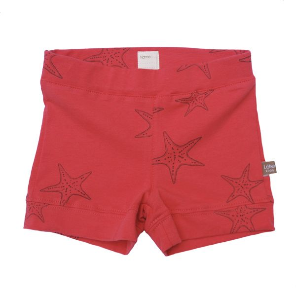 Coral Short with sea stars