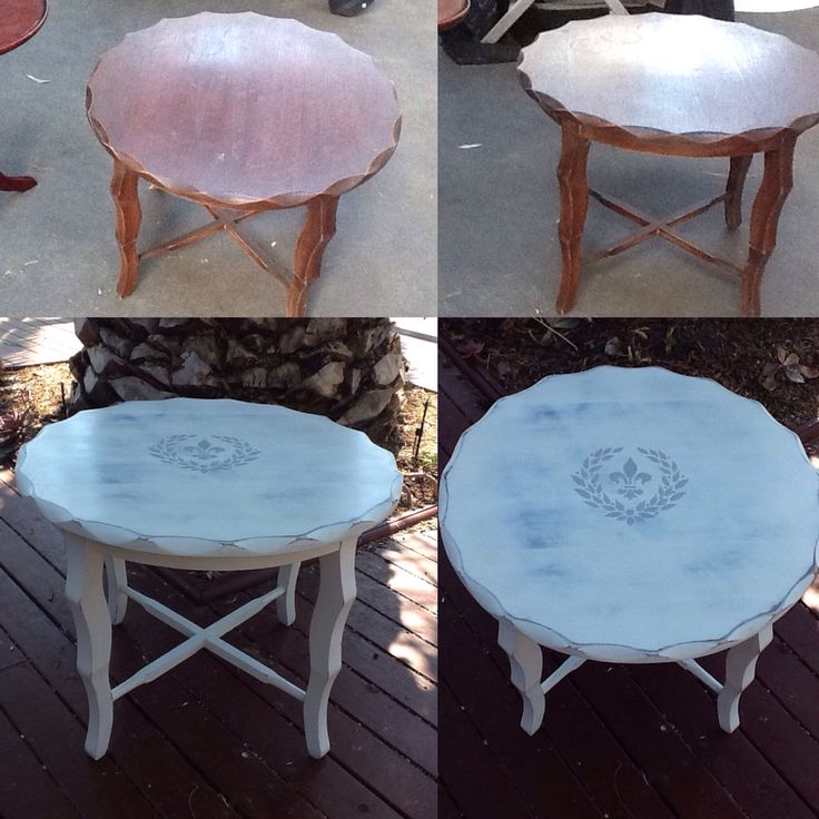 Painted Retro Coffee Table: 17 Best Images About Painted Vintage Coffee Tables/side