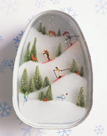 ski slope diorama..