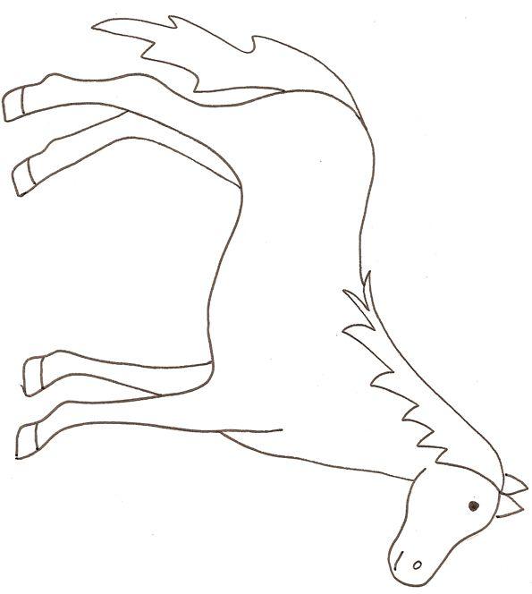 Coloriage Cheval Simple.Coloriage D Un Cheval Coloriages Horse Crafts Horse Coloring