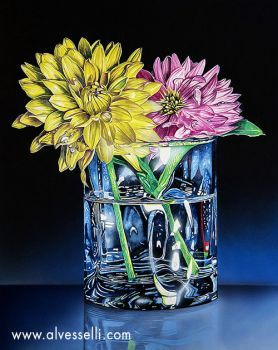This is a beautifully rendered water color painting by an award winning artist. It is highly detailed and the colors are...