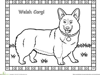 Corgi Coloring Page Animal Coloring Pages Corgi Coloring Pages