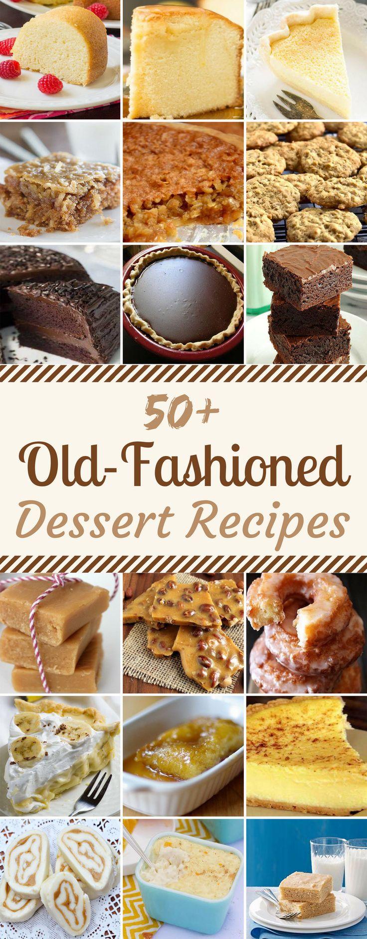 50 Old-Fashioned Dessert Recipes