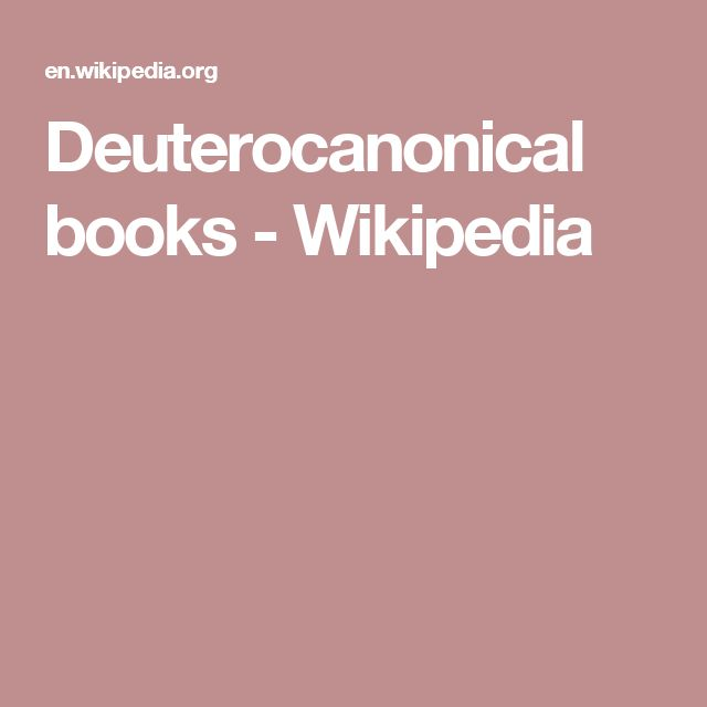 Deuterocanonical books - Wikipedia