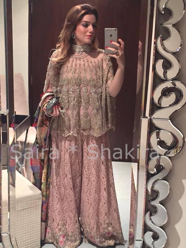 Amna Kasuri wearing an outfit from Saira Shakira collection.