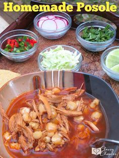 This homemade posole dish is the real deal! Authentic and super tasty, a must try!   Mexican Food   Mexican Food Recipes   Homemade Mexican Food