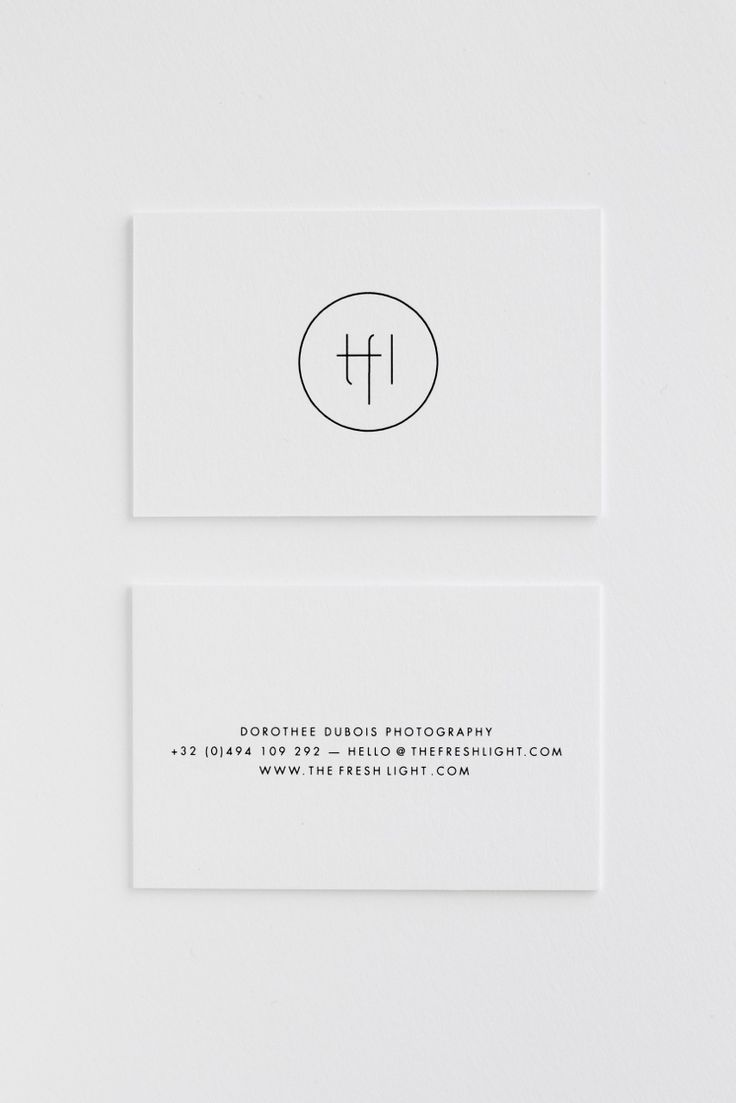 THE FRESH LIGHT | new logo and business cards! design by Studio Posen