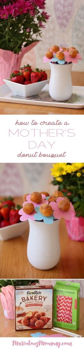 Mother's Day Giveaway + Breakfast in Bed Donut Bouquet #FarmRichSnacks #MomTime #ad