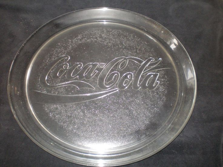 Clear Glass Coca Cola 13 Quot Platter From 1990 In Box 3947