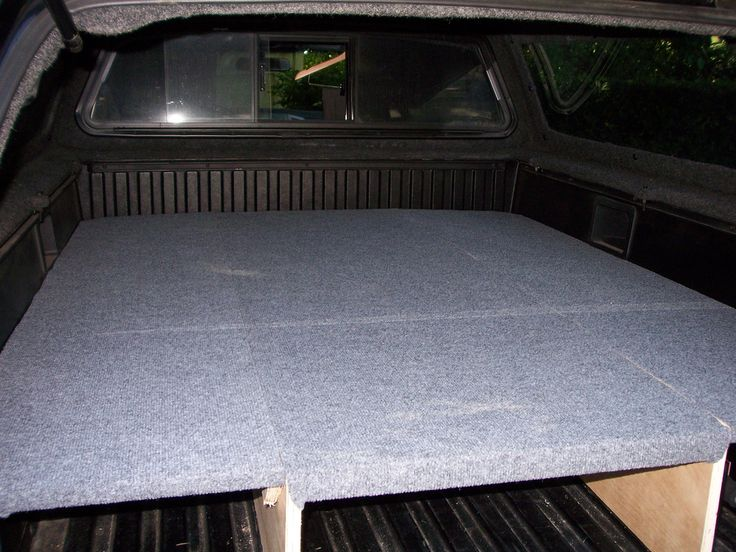 Light-weight sleeping platform for a tacoma - Photo How To