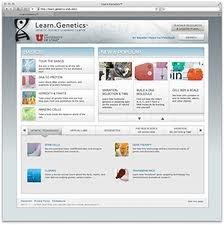 Learn Genetics es una página web didáctica de la Universidad de Utah, que incluye una colección de recursos interactivos para la enseñanza de la Genética.