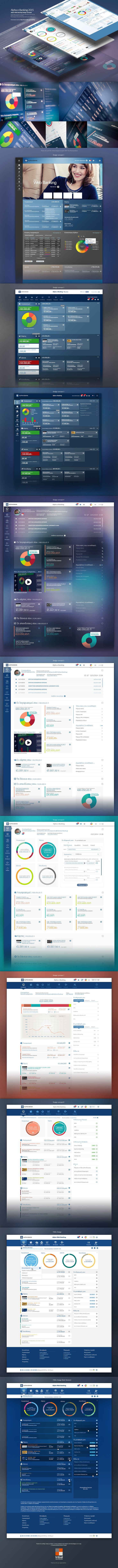 Alpha Web Banking - Design Process on Behance