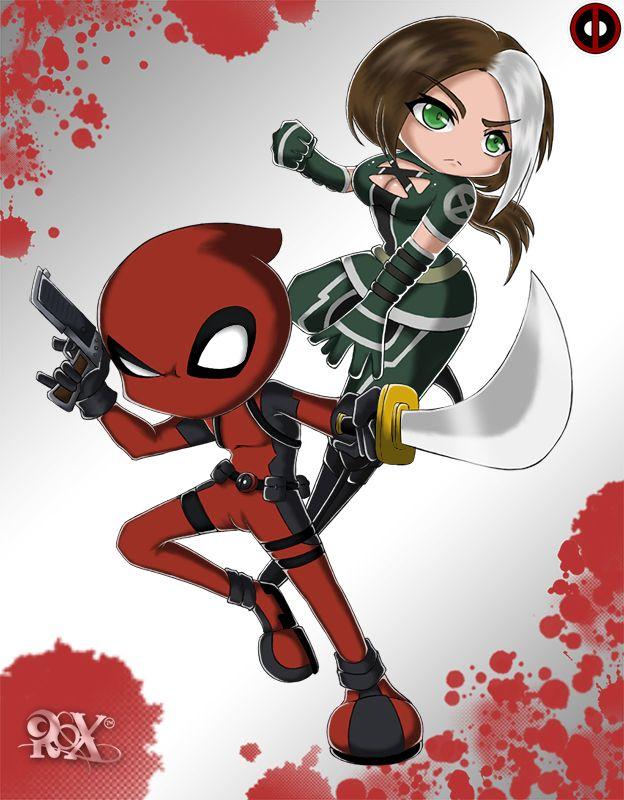 Deadpool and Rogue by faaizrox.deviantart.com on @deviantART