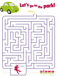 play travel maze help danny the diono car find his way to the park