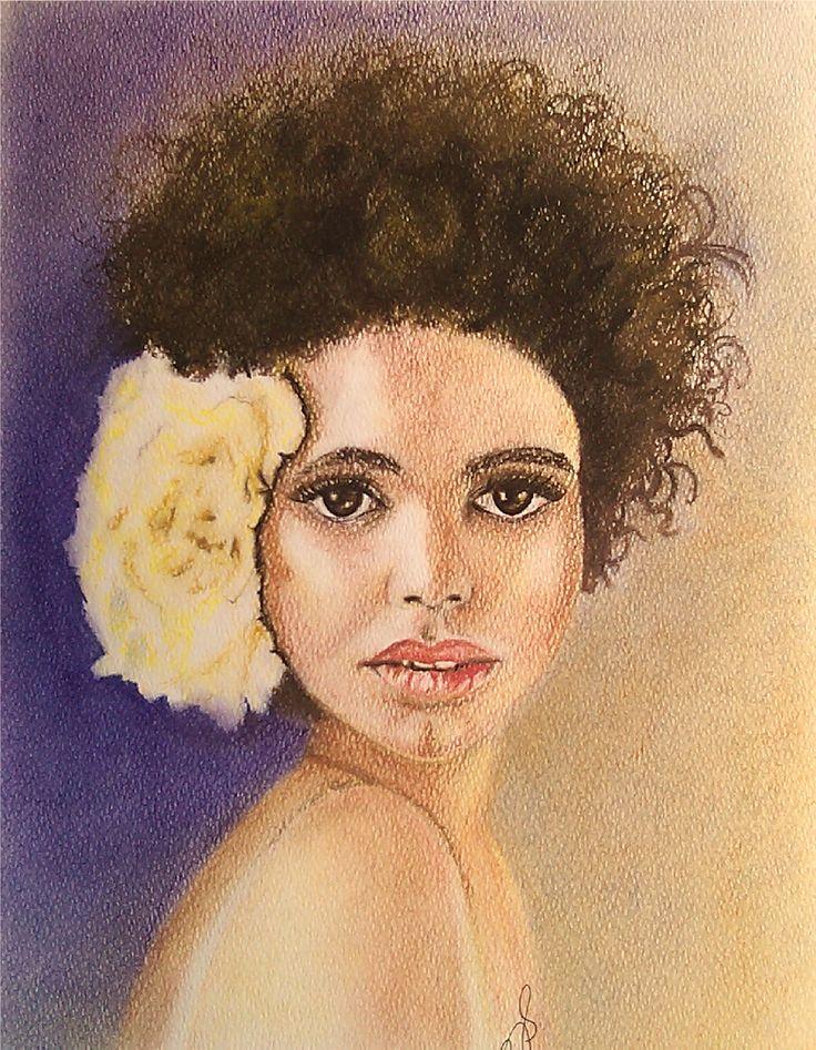 Flowers in her Hair II. Soft Pastels.
