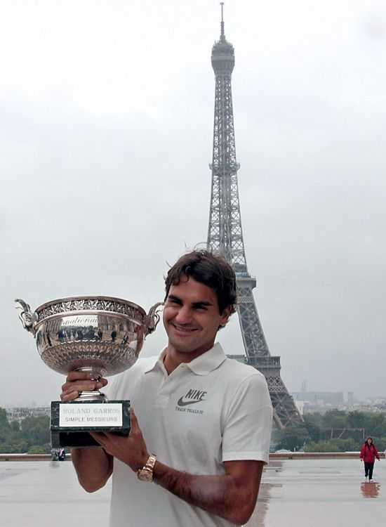 RF's hardest fought grand slam victory, his only Roland Harris.