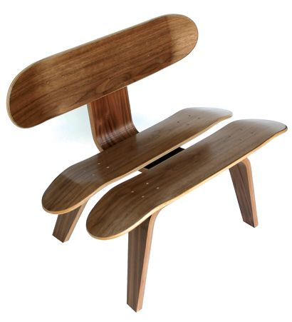 Skate Study House: Recycled Skateboard Furniture | Inhabitat ...
