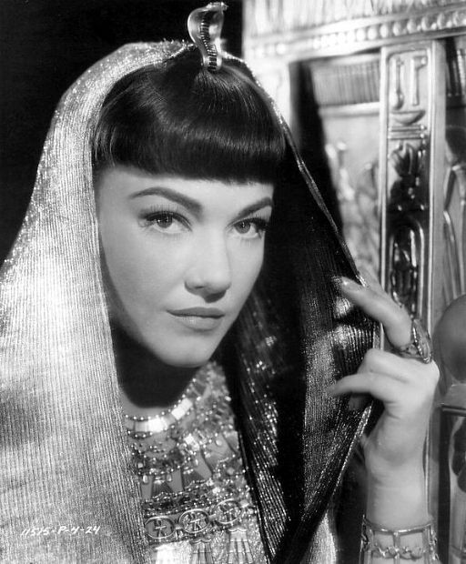 Anne Baxter– The Ten Commandments,a 1956 epic film produced and directed by Cecil B. DeMille