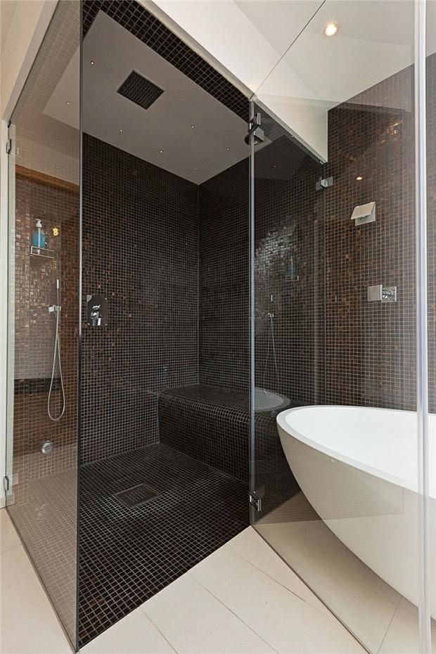 douche italienne avec carrelage moderne