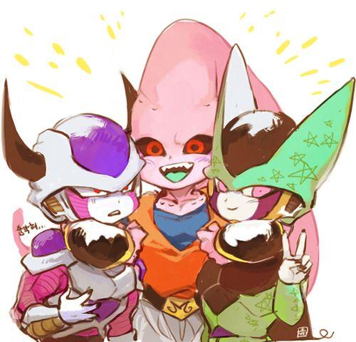 Freiza, Buu, and Cell - Dragon Ball Z