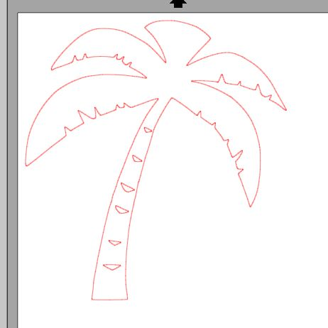 fichier sst ** palmier ** pour silhouette studio