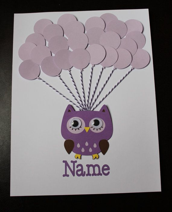 This is a two for one! A signing book that can also be treasured for many years to come. After you have all your guests sign their names in each of the balloons you can frame it and have as a keepsake for your little one. FRAME IS NOT INCLUDED Balloons, owl and name are cut outs made out of card stock and are completely attached.The size is 8 x 10 with 24-27 balloons. Owl has movable eyes. Bakers twine strings holds the balloons.   IMPORTANT DETAILS  Please provide the following information…