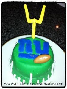 Super Bowl NY Giants Cake