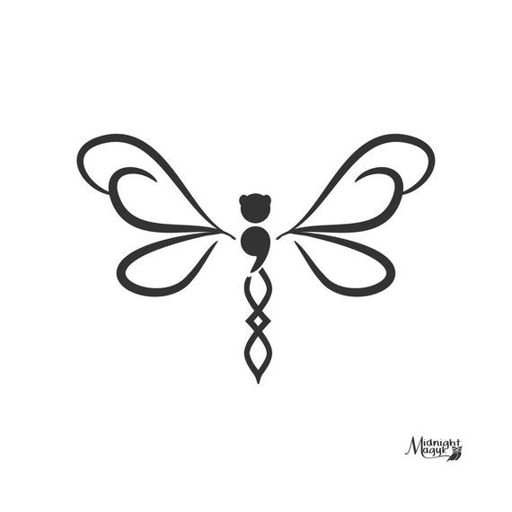 Download Pin by Kim Ameden on Cricut   Semicolon tattoo, Dragonfly ...