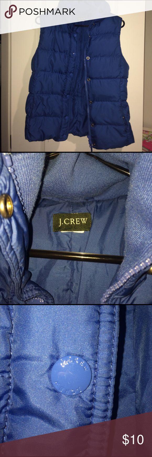 J crew puffer vest Blue zip up j crew puffer vest J. Crew Jackets & Coats Vests