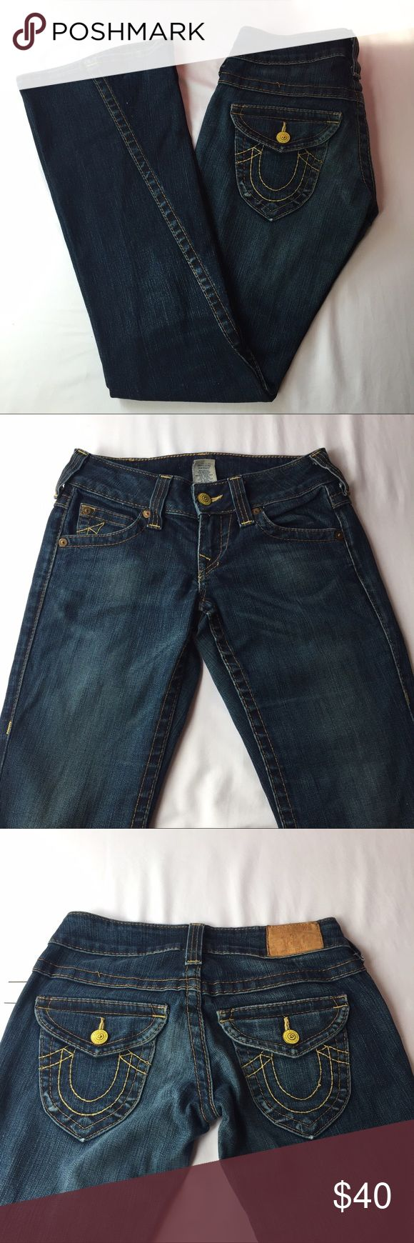 🆕 True Religion Denim Flare Jeans, Size 27 Awesome True Religion Denim Flare Jeans, Size 27. Flare is making a HUGE comeback and these jeans will definitely help complete that hippy/boho look that's so hot right now 😍 In excellent condition, no defects and coems from a smoke/pet-free home. True Religion Jeans Flare & Wide Leg