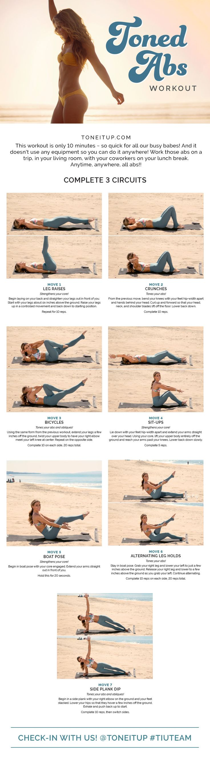 WELCOME TO THE TONE IT UP DAILY WORKOUT! Every day, we post a workout to tone & sculpt your beautiful body. Remember, you can make it work with your schedul