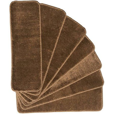 Ottomanson Ottomanson Softy Collection Contemporary Solid Design Stair Tread Rug, '9 x 2'2, Set of 7 - Walmart.com