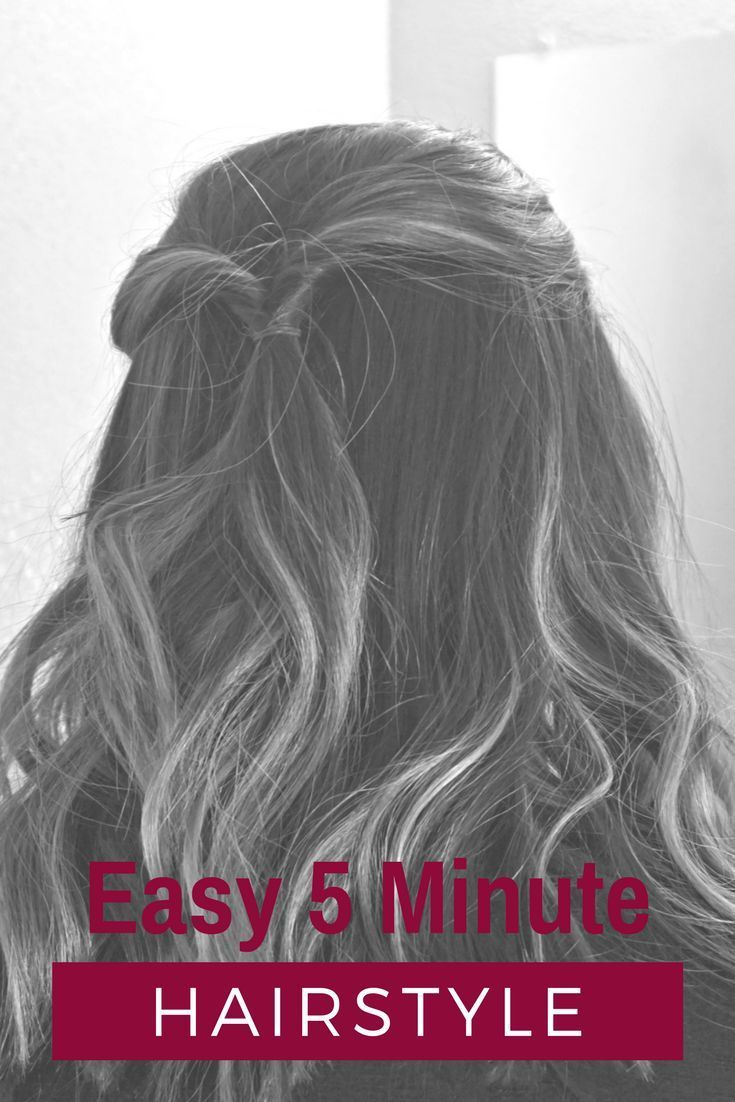 Easy minute hairstyle easy half up half down hairstyle